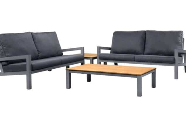 Suns lago sofa set antraciet