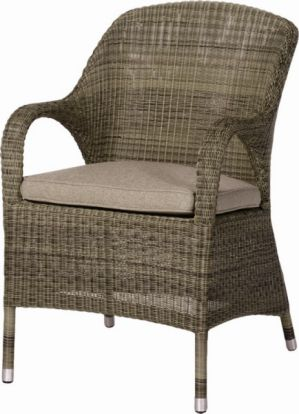 4 Seasons Outdoor Sussex dining chair polyloom taupe
