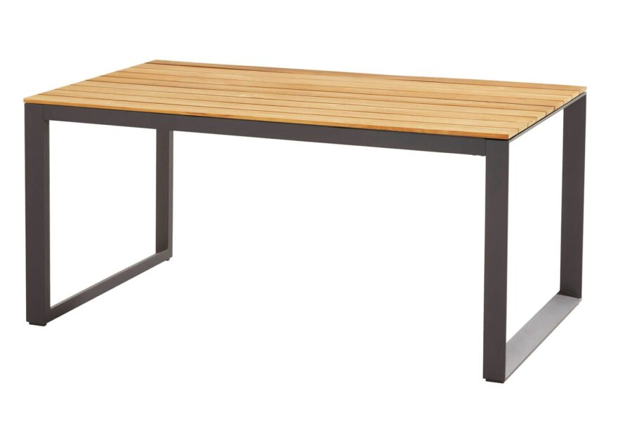 taste by 4 seasons outdoor heritage tafel 160cm matt carbon teak