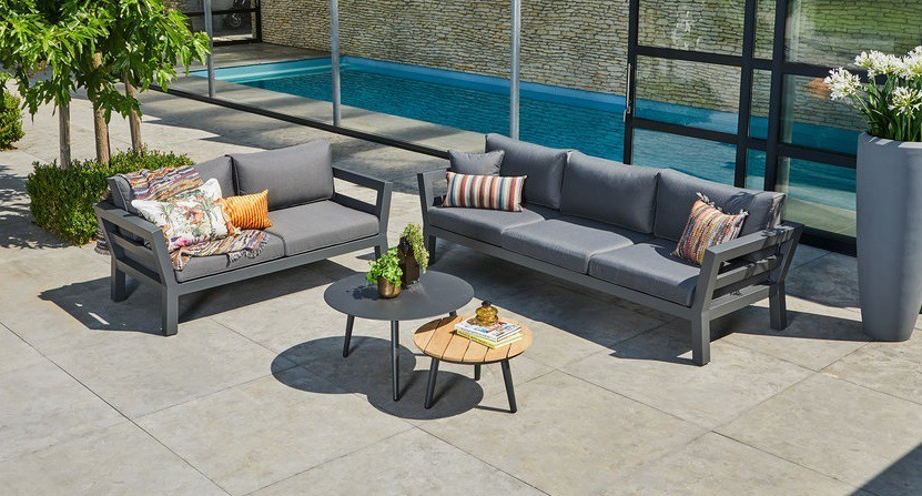 Suns malmo sofa set antraciet