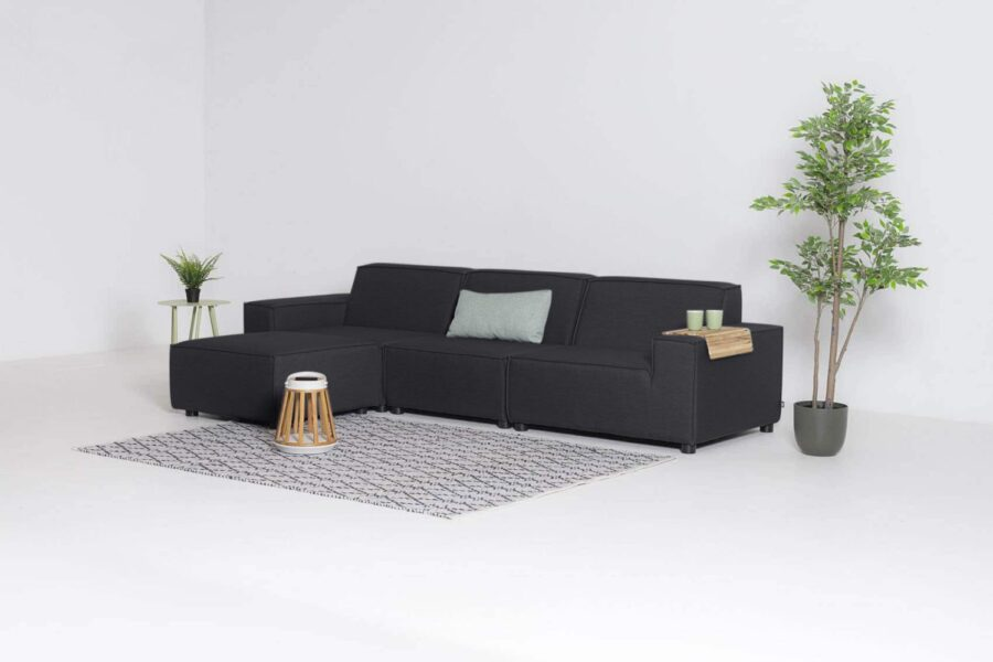 Flow cube chaise sooty
