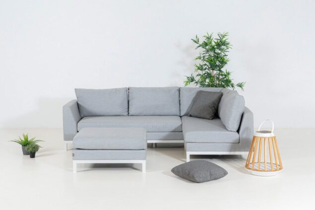Flow Square Chaise Sofa lead chine