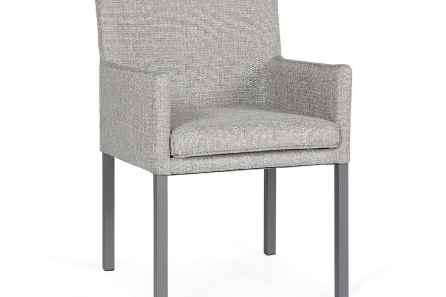 Suns Antas dining chair matt royal g grey frame - lightanthracite