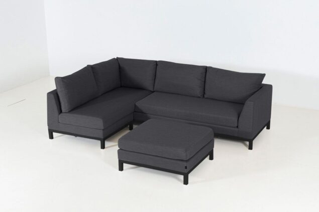 Flow Square chaise sooty