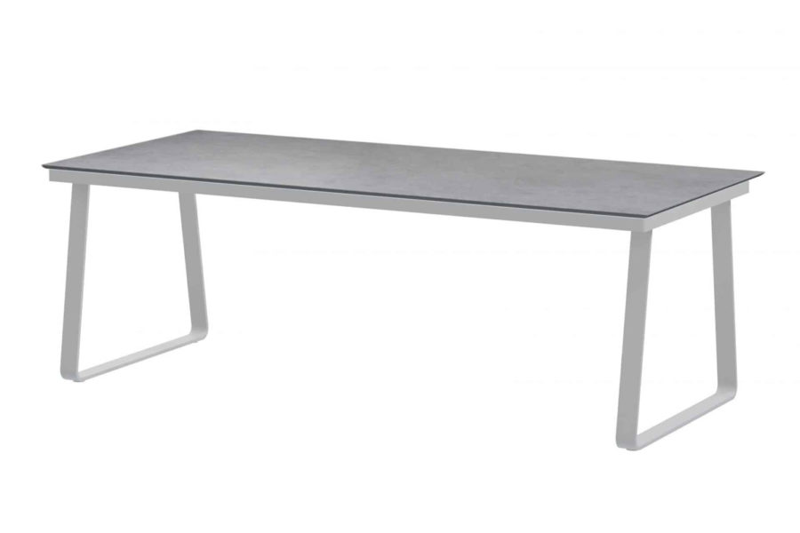 Konos tafel frost grey met Goa HPL blad light grey 220 cm