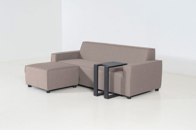 Flow Club chaise sofa taupe