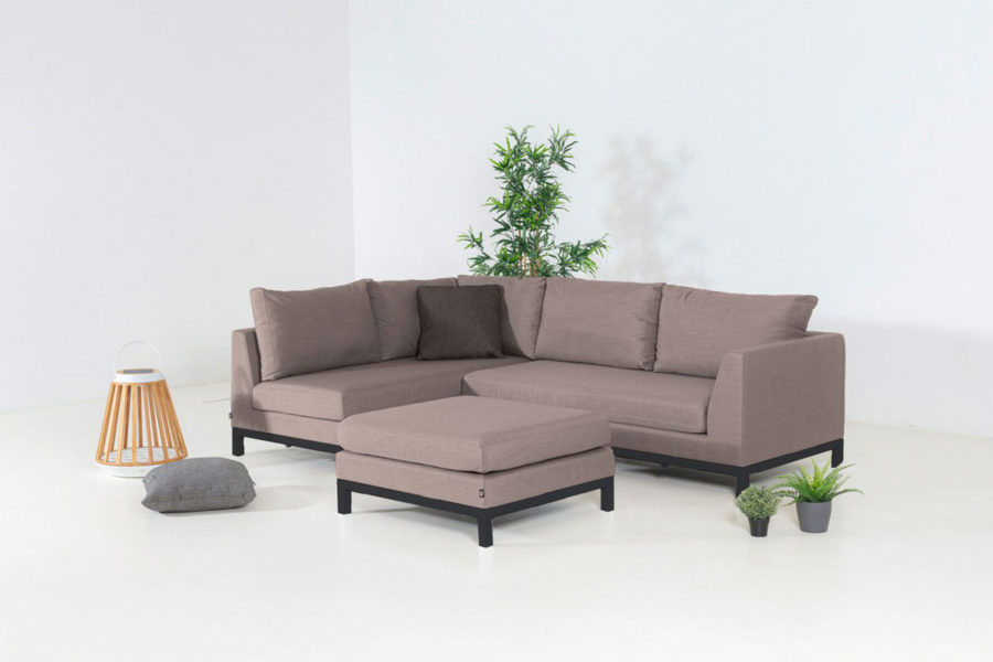 Flow Square chaise sofa taupe