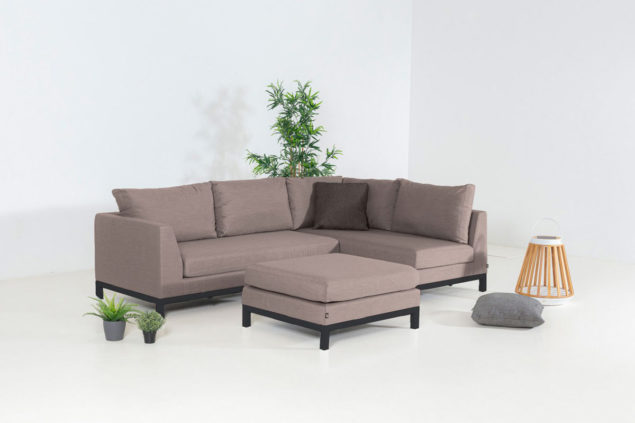 Flow Square Chaise taupe chine